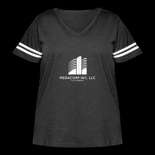 MEGACORP - GIANT EVUL CORPORATION - Women's Curvy Vintage Sport T-Shirt