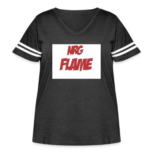 FLAME - Women's Curvy Vintage Sport T-Shirt