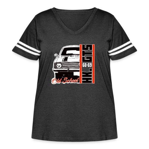 HK 1/2 OLDSCHOOLTSHIRTS - Women's Curvy Vintage Sport T-Shirt