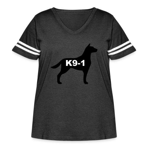 k9-1 Logo Large - Women's Curvy Vintage Sport T-Shirt