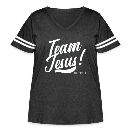 Team Jesus! - Women's Curvy Vintage Sport T-Shirt