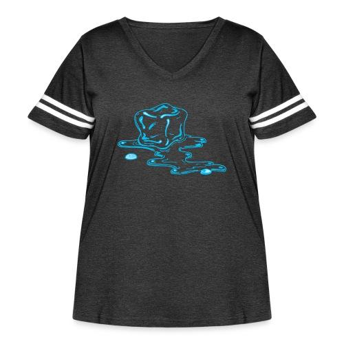 Ice melts - Women's Curvy Vintage Sport T-Shirt
