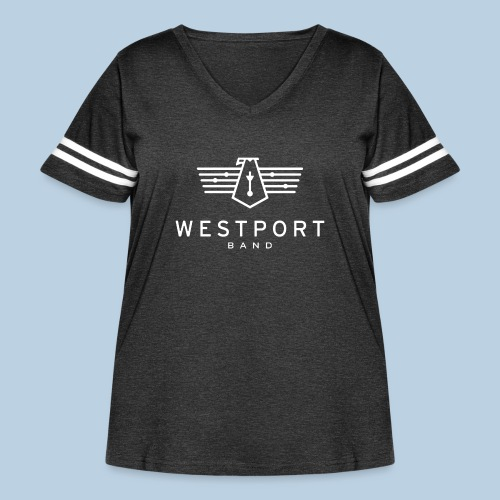 Westport Band White on transparent - Women's Curvy Vintage Sport T-Shirt