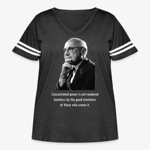 Milton Friedman Concentrated Power white - Women's Curvy Vintage Sport T-Shirt
