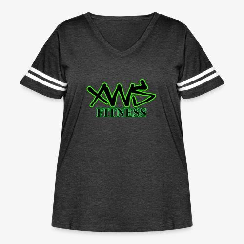 XWS Fitness - Women's Curvy Vintage Sport T-Shirt