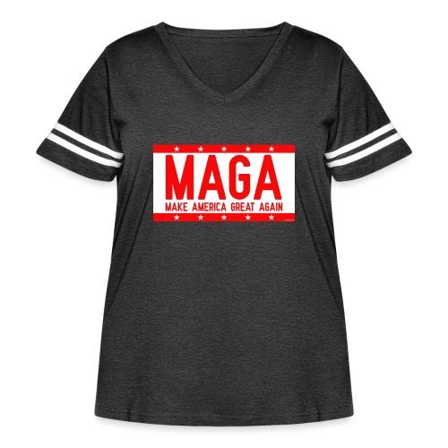 MAGA - Women's Curvy Vintage Sport T-Shirt