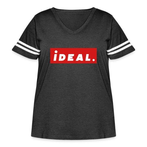 ideal Logo Red - Women's Curvy Vintage Sport T-Shirt