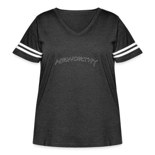 Airworthy T-Shirt Treasure - Women's Curvy Vintage Sport T-Shirt