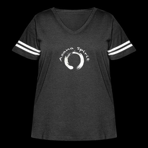 Enso Ring - Asana Spirit - Women's Curvy Vintage Sport T-Shirt