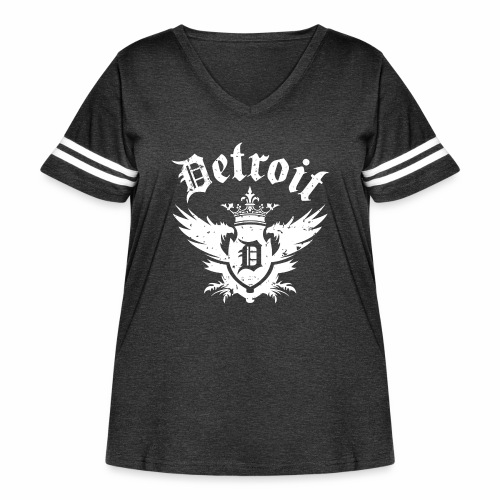 DETROIT ROYALTY - Women's Curvy Vintage Sport T-Shirt