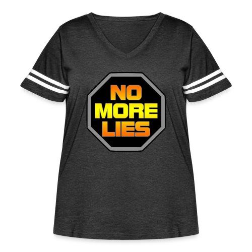 stopp no more lies - Women's Curvy Vintage Sport T-Shirt