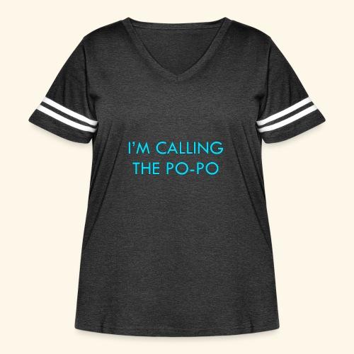 I'M CALLING THE PO-PO | ABBEY HOBBO INSPIRED - Women's Curvy Vintage Sport T-Shirt