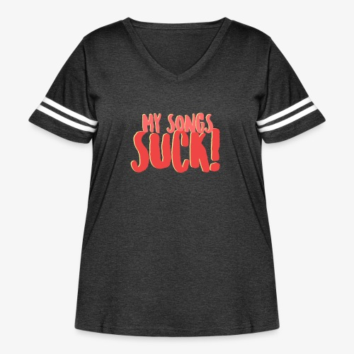 My Songs Suck Logo - Women's Curvy Vintage Sport T-Shirt