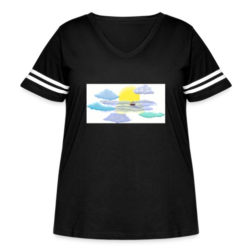 Sea of Clouds - Women's Curvy Vintage Sport T-Shirt