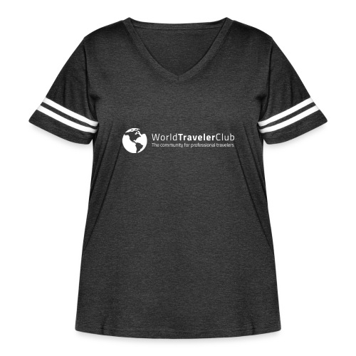 wtc logo - Women's Curvy Vintage Sport T-Shirt