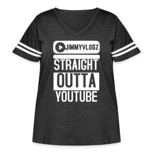 Straight Outta YouTube Merch! - Women's Curvy Vintage Sport T-Shirt