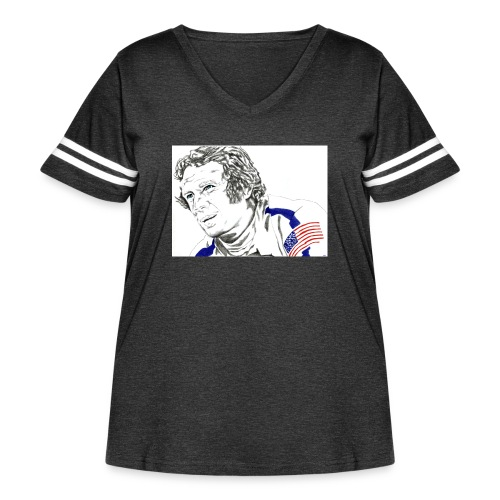 McQUEEN - Women's Curvy Vintage Sport T-Shirt