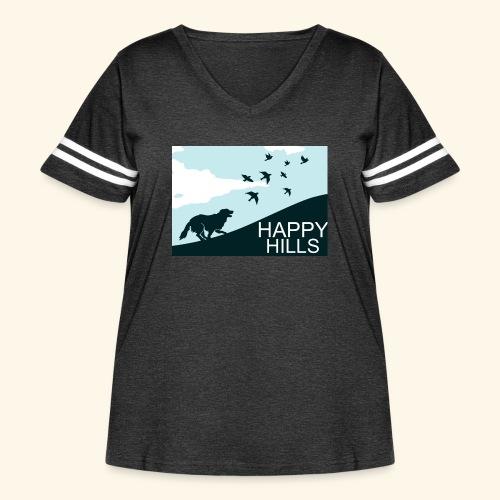 Happy hills - Women's Curvy Vintage Sport T-Shirt