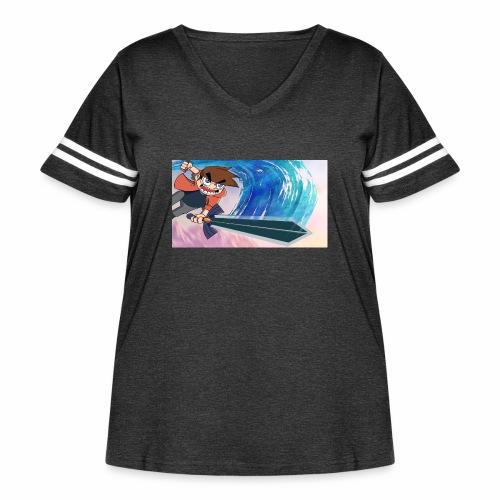 Funnerdiction fantasy - Women's Curvy Vintage Sport T-Shirt