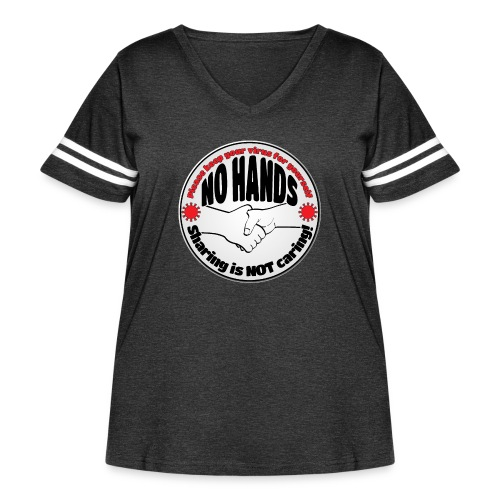 Virus - Sharing is NOT caring! - Women's Curvy Vintage Sport T-Shirt