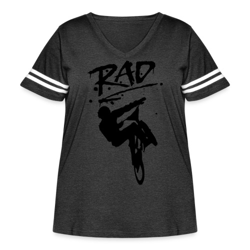 RAD BMX Bike Graffiti 80s Movie Radical Shirts - Women's Curvy Vintage Sport T-Shirt