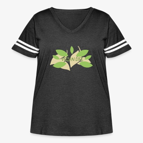 Vegan Life - Women's Curvy Vintage Sport T-Shirt