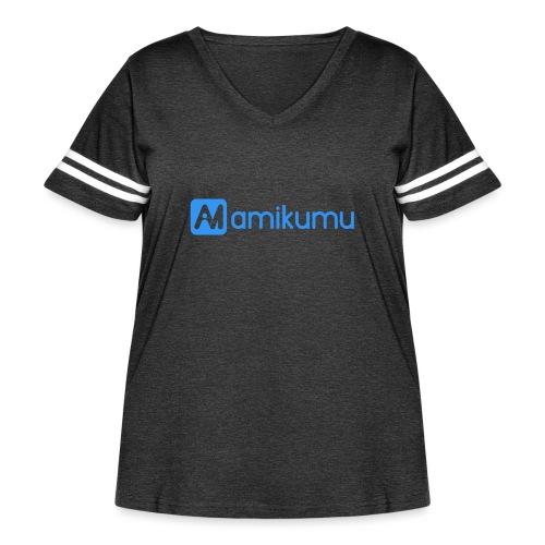 Amikumu Logo Blue - Women's Curvy Vintage Sport T-Shirt