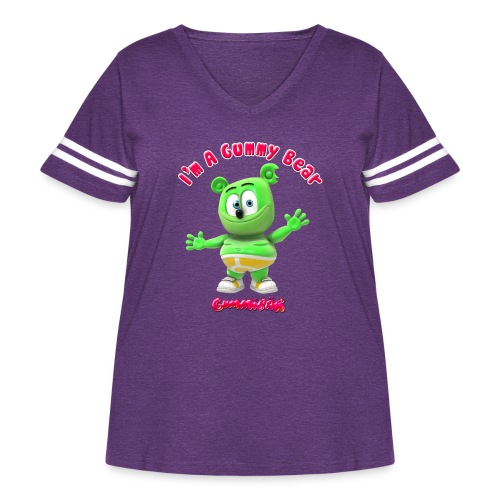 I'm A Gummy Bear - Women's Curvy Vintage Sport T-Shirt