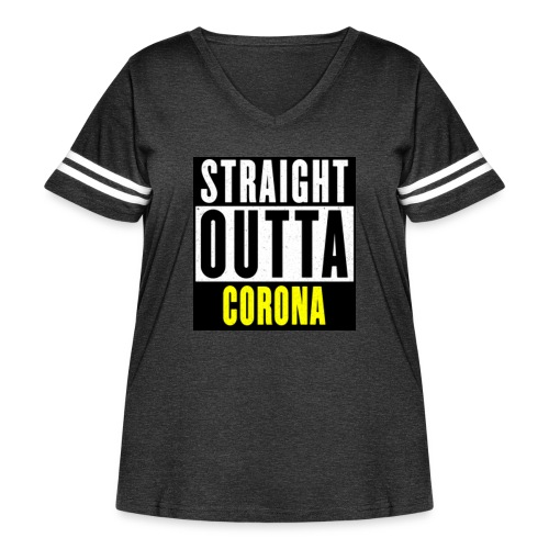 Straight Outta Corona - Women's Curvy Vintage Sport T-Shirt