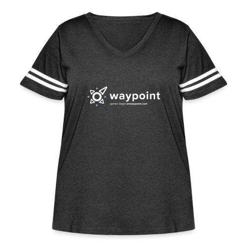 Waypoint Logo (Light Version) - Women's Curvy Vintage Sport T-Shirt