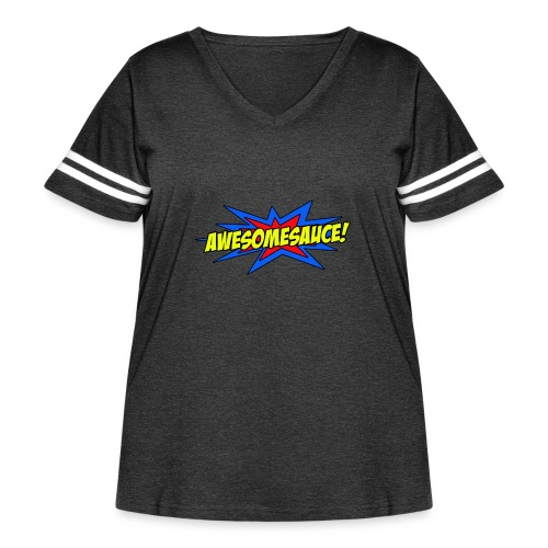 Awesomesauce - Women's Curvy Vintage Sport T-Shirt