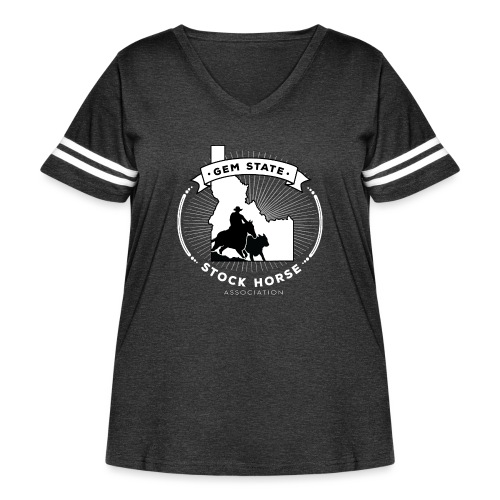 Sunburst Logo - Women's Curvy Vintage Sport T-Shirt