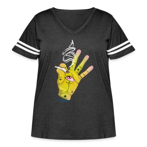Khalwi High Khamsa - Women's Curvy Vintage Sport T-Shirt