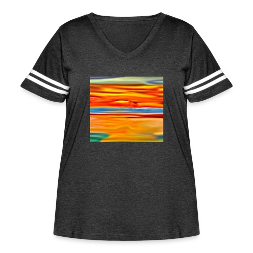 Orange rise - Women's Curvy Vintage Sport T-Shirt