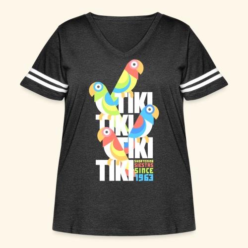 Tiki Room - Women's Curvy Vintage Sport T-Shirt
