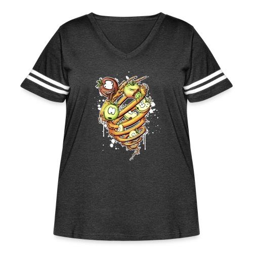 apfelstrudel - Women's Curvy Vintage Sport T-Shirt