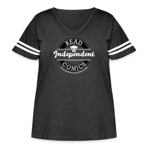 Read Independent Comics - Women's Curvy Vintage Sport T-Shirt