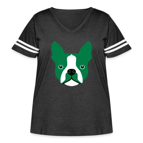 Boston Terrier - Women's Curvy Vintage Sport T-Shirt