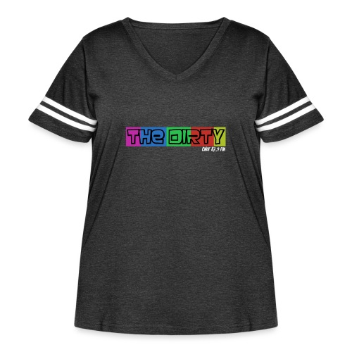 The Dirty FM transparent - Women's Curvy Vintage Sport T-Shirt