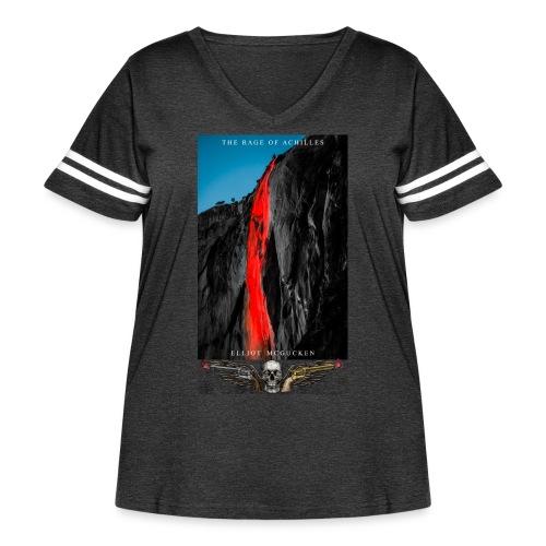 The Rage of Achilles Yosemite Falls Skull'n'Wings - Women's Curvy Vintage Sport T-Shirt