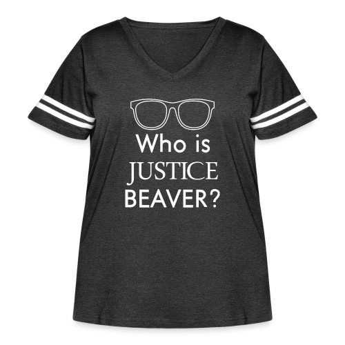 Who Is Justice Beaver - Women's Curvy Vintage Sport T-Shirt