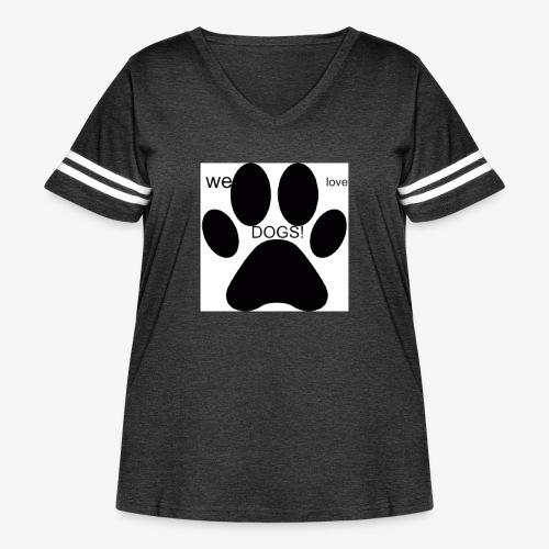 WE LOVE DOGS!!!!!!! - Women's Curvy Vintage Sport T-Shirt
