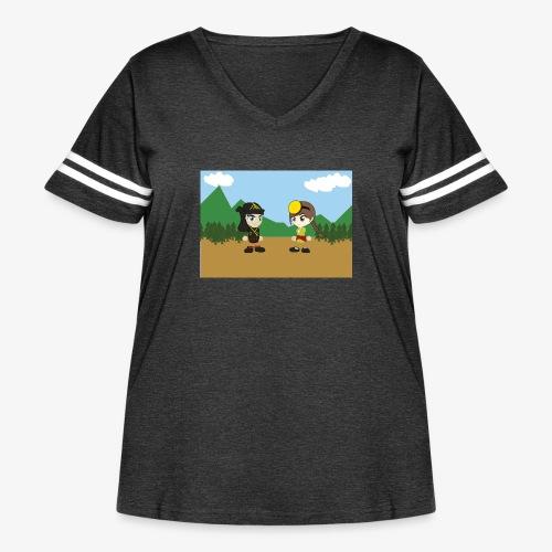 Digital Pontians - Women's Curvy Vintage Sport T-Shirt