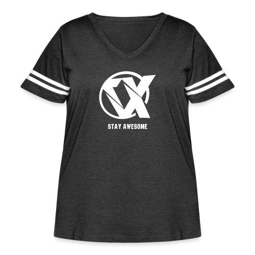 Vlex Stay Awesome Shirt (Officiel) - Women's Curvy Vintage Sport T-Shirt