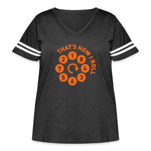 Rolling the V8 way - Autonaut.com - Women's Curvy Vintage Sport T-Shirt