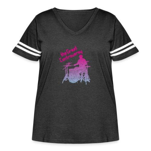 The Great Controversy PB - Women's Curvy Vintage Sport T-Shirt
