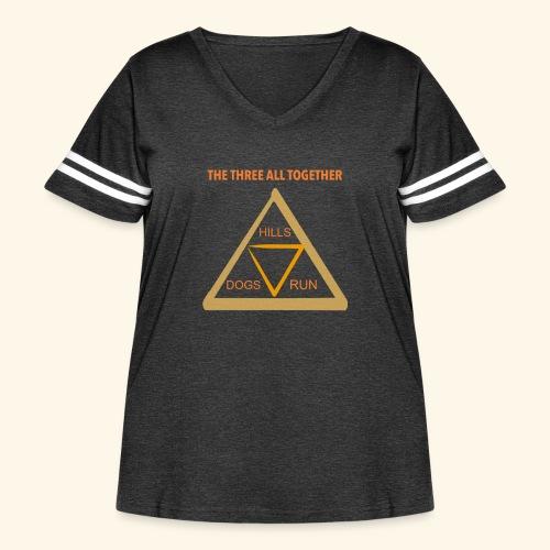 Run4Dogs Triangle - Women's Curvy Vintage Sport T-Shirt