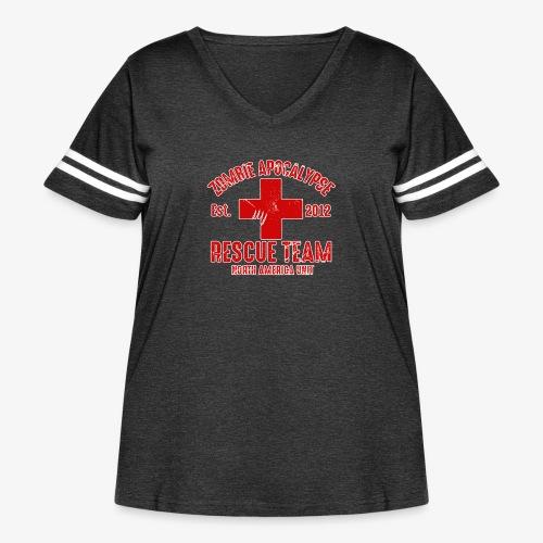 Zombie Help Team - Women's Curvy Vintage Sport T-Shirt