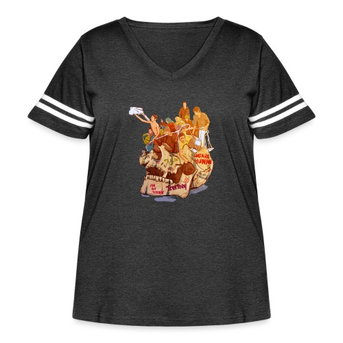 Skull & Refugees - Women's Curvy Vintage Sport T-Shirt