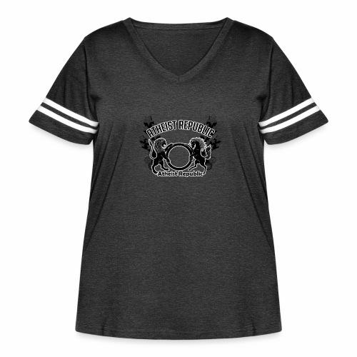 Atheist Republic Logo - Shooting Stars - Women's Curvy Vintage Sport T-Shirt